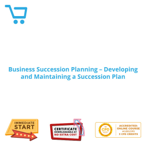 Business Succession Planning - Developing and Maintaining a Succession Plan - Distance Learning CPD #1001595