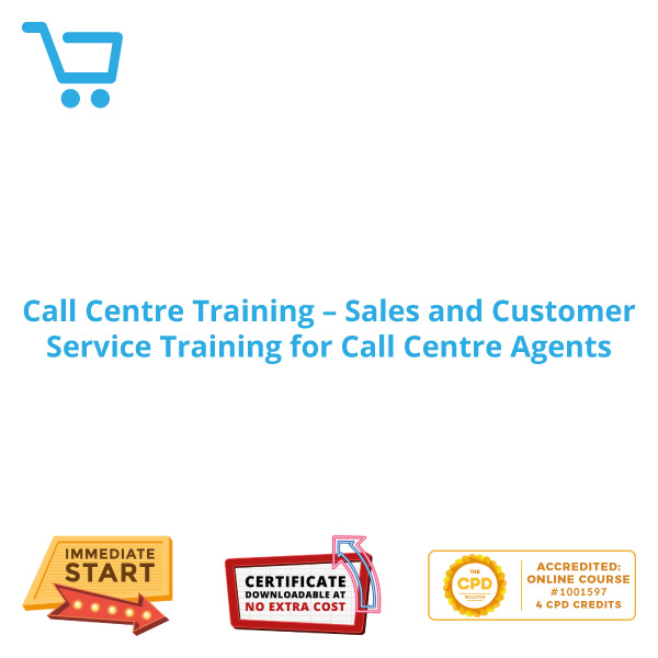 Call Centre Training - Sales and Customer Service Training-for Call Centre Agents - Distance Learning CPD #1001597