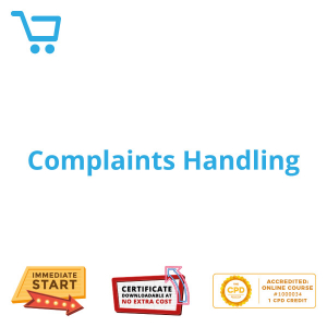 Complaints Handling - eLearning CPD #1000034