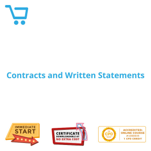 Contracts and Written Statements - eLearning CPD #1000035