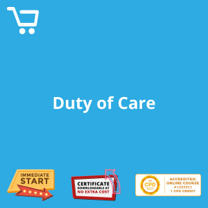 Duty of Care - eLearning CPD #1000053