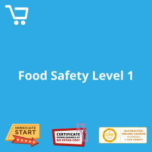 Food Safety Level 1 - eLearning CPD #1000062