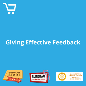 Giving Effective Feedback - Distance Learning CPD #1001639