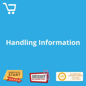 Handling Information - Video CPD #1001426
